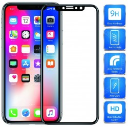 2-PACK iPhone XS FullFrame® 0.26mm 2.5D 9H Härdat Glas