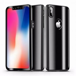 iPhone XS 360° 3in1 FullCover Skal V2 + 0.26mm 9H Glas