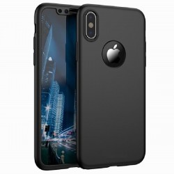 iPhone XS Max 360° 3in1 FullCover Skal + 0.26mm 9H Glas