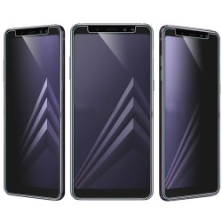2-PACK Samsung A8 2018 Privacy Härdat glas 0.26mm 2.5D 9H