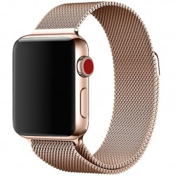 Apple Watch 42mm Armband Milanesisk Loop Roséguld