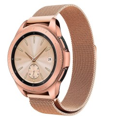 Samsung Galaxy Watch 46mm LTE Armband Milanesisk Loop Roséguld