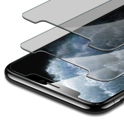 2-PACK iPhone 11 Pro Max Privacy Härdat glas 0.26mm 2.5D 9H