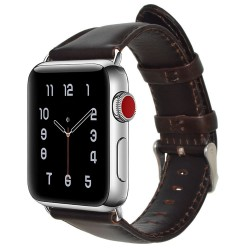Apple Watch 40mm Stilren Läderarmband - Mörkbrun