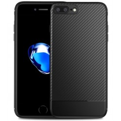 iPhone 7 Plus Ultratunn Silikon Skal FullCarbon®
